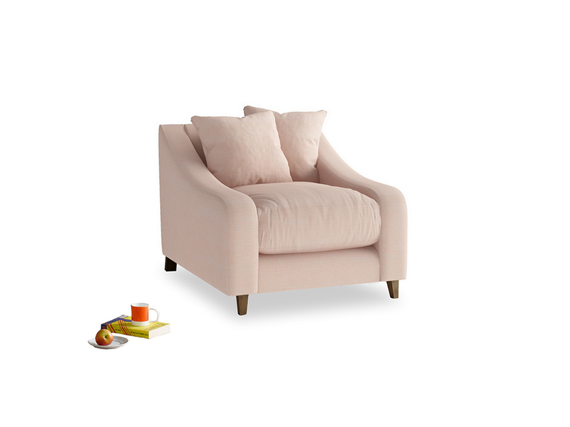 Oscar Armchair in Pink clay Clever Softie