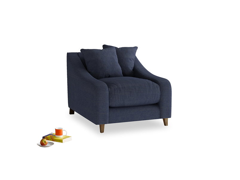 Oscar Armchair in Seriously Blue Clever Softie