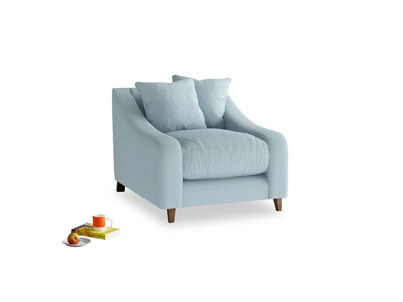 Oscar Armchair in Powder Blue Clever Softie
