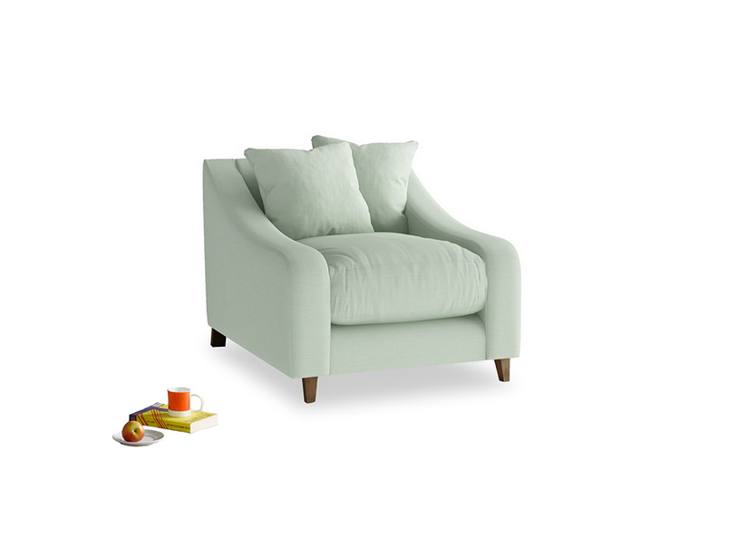 Oscar Armchair in Soft Green Clever Softie