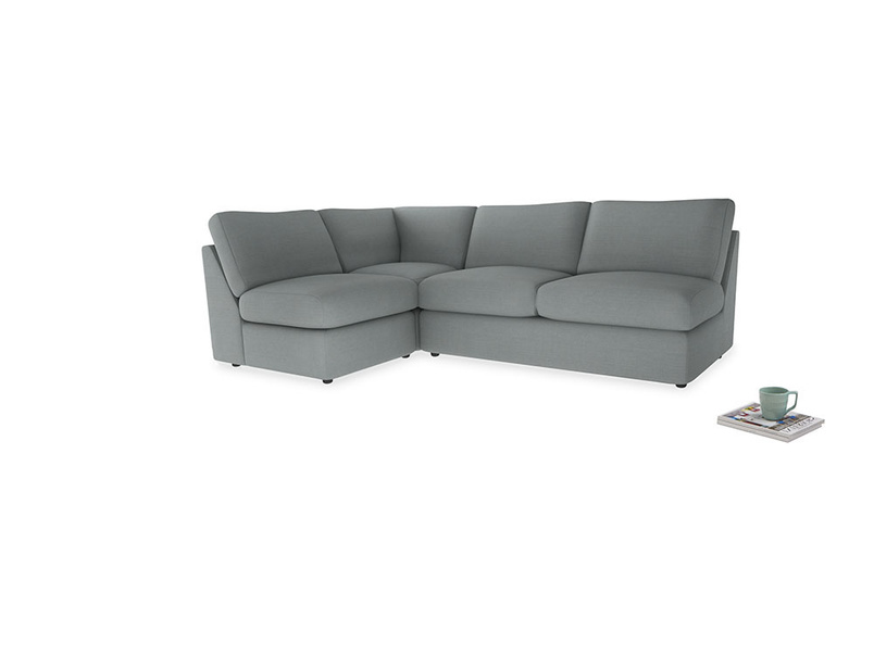 Large left hand Chatnap modular corner storage sofa in Armadillo Clever Softie