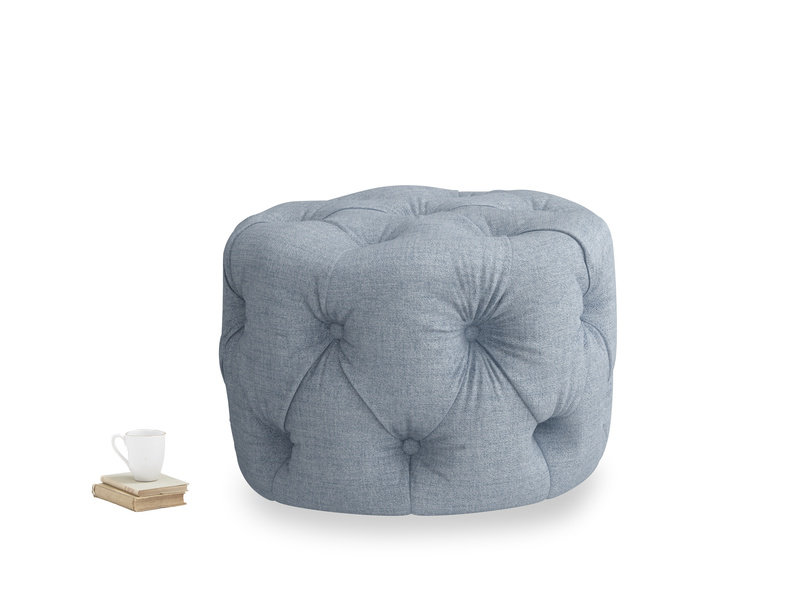 Gumdrop in Frost clever woolly fabric