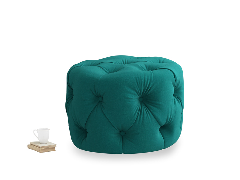 Gumdrop in Indian green Brushed Cotton
