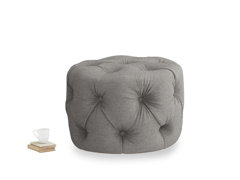 Gumdrop in Marl grey clever woolly fabric