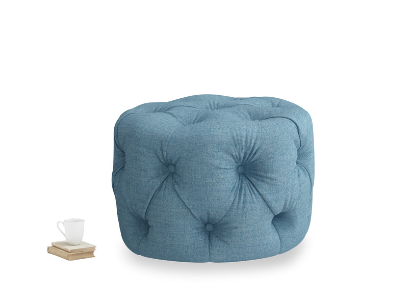 Gumdrop in Moroccan blue clever woolly fabric