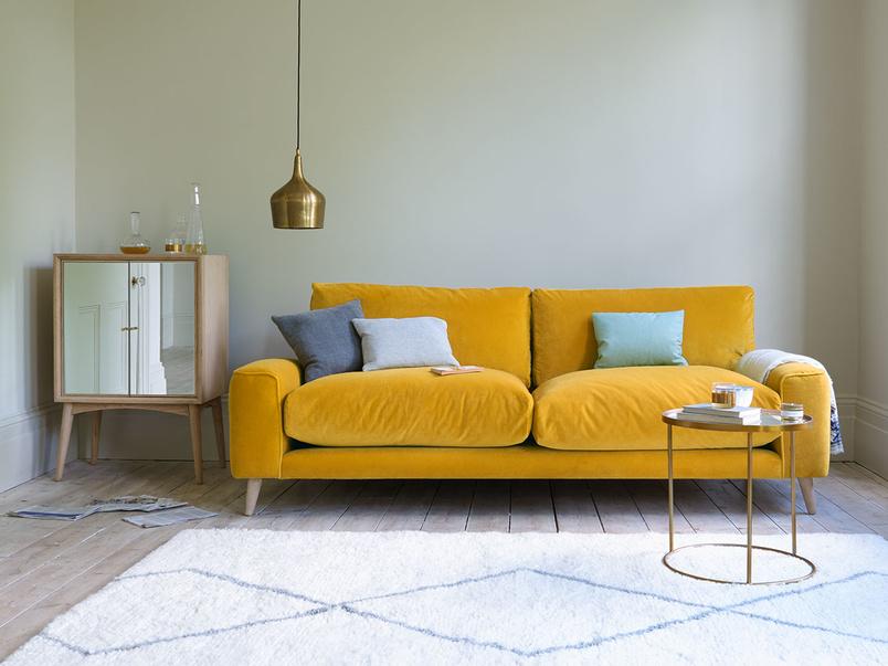 Strudel contemporary low arm squishy sofa