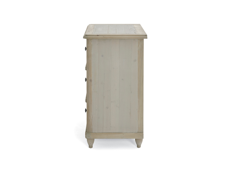 Apeldoorn two tone medium and large grey painted chest of drawers