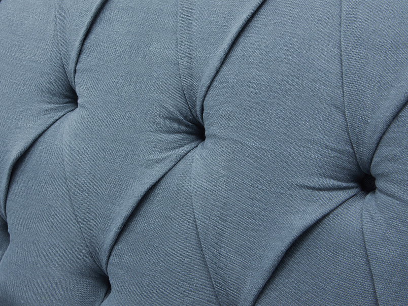 Bagsie button back handmade upholstered sofa button detail