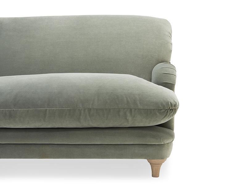 Pudding modern sofa front leg detail