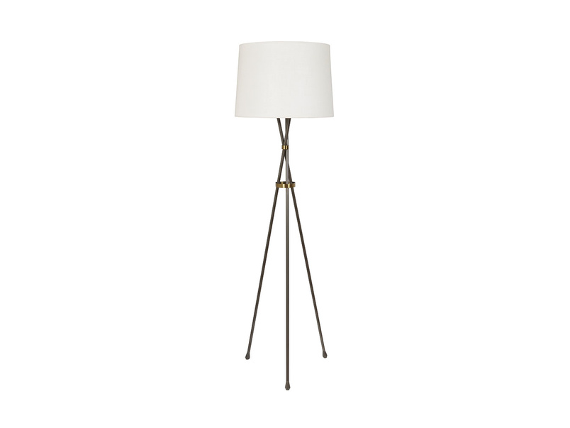 Hat Trick Floor Lamp with Natural Hessian shade