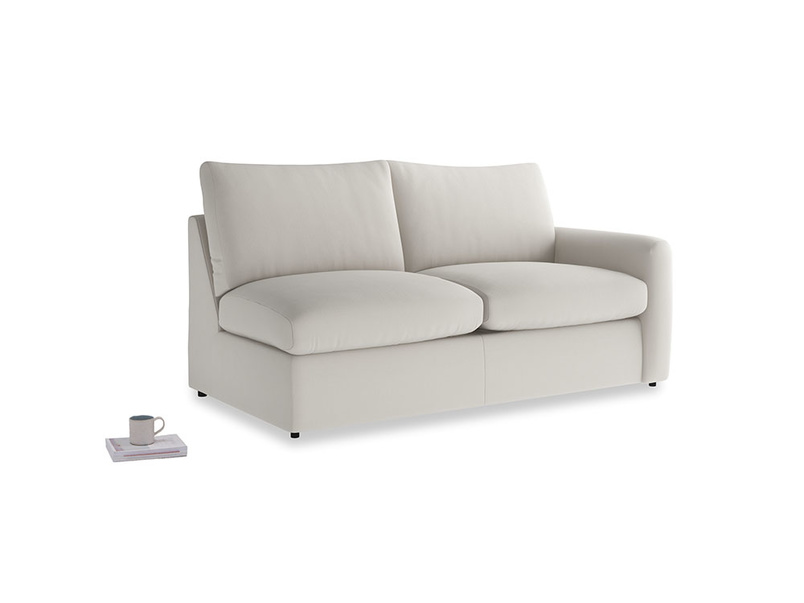Chatnap Sofa Bed in Moondust grey clever cotton with a right arm