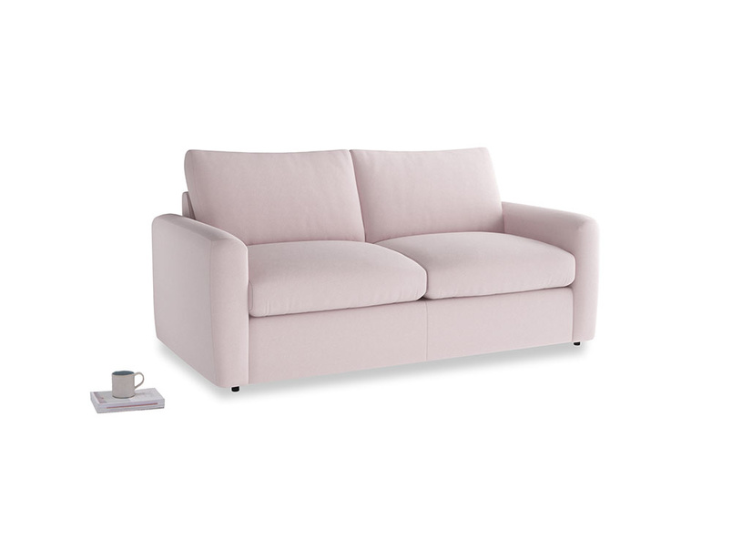 Chatnap Storage Sofa in Dusky blossom washed cotton linen with both arms