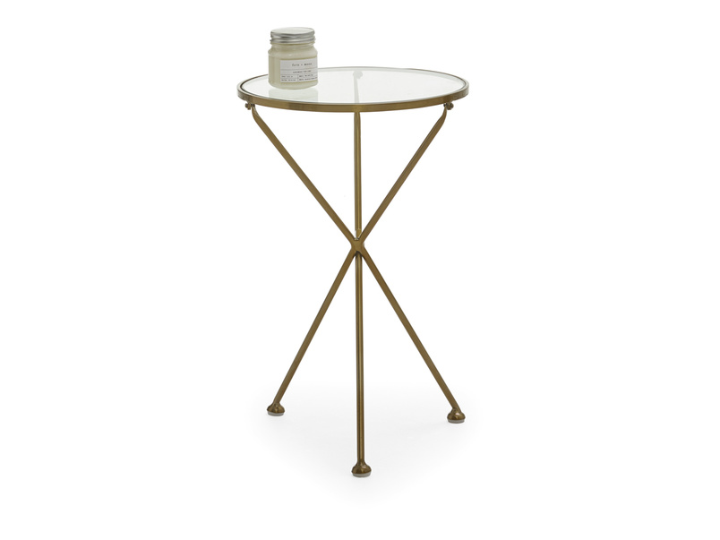 Round and modern Tria side table in a contemporary design