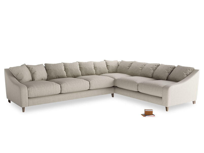 Xl Right Hand Oscar Corner Sofa  in Thatch house fabric
