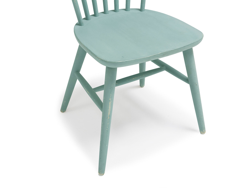 Natterbox wooden dining chair in Easy Blue