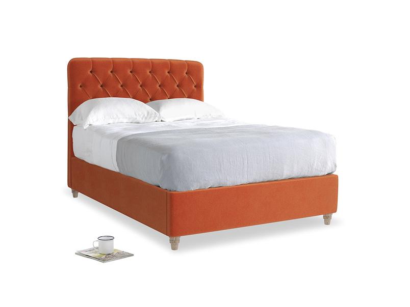 Double Billow Bed in Old Orange Clever Deep Velvet