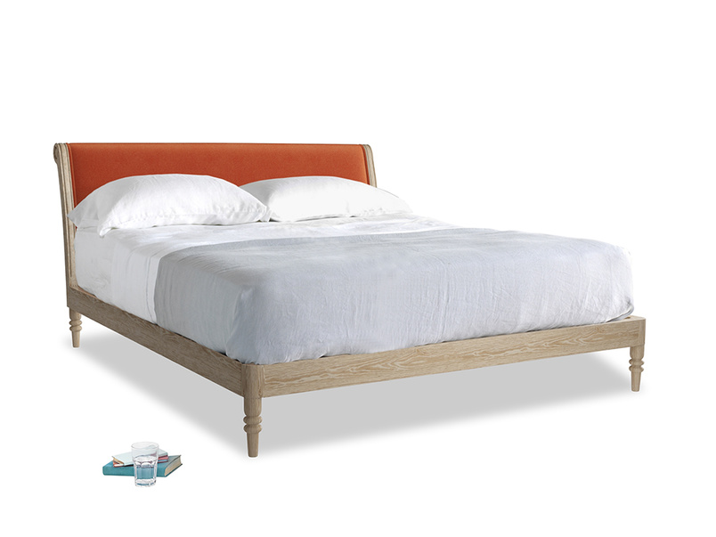 Superking Darcy Bed in Old Orange Clever Deep Velvet