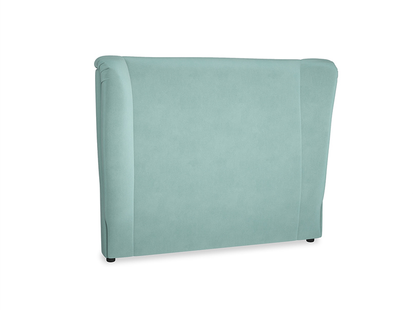Double Hugger Headboard in Greeny Blue Clever Deep Velvet