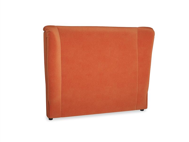 Double Hugger Headboard in Old Orange Clever Deep Velvet