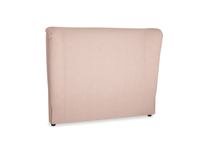 Double Hugger Headboard in Pale Pink Clever Woolly Fabric