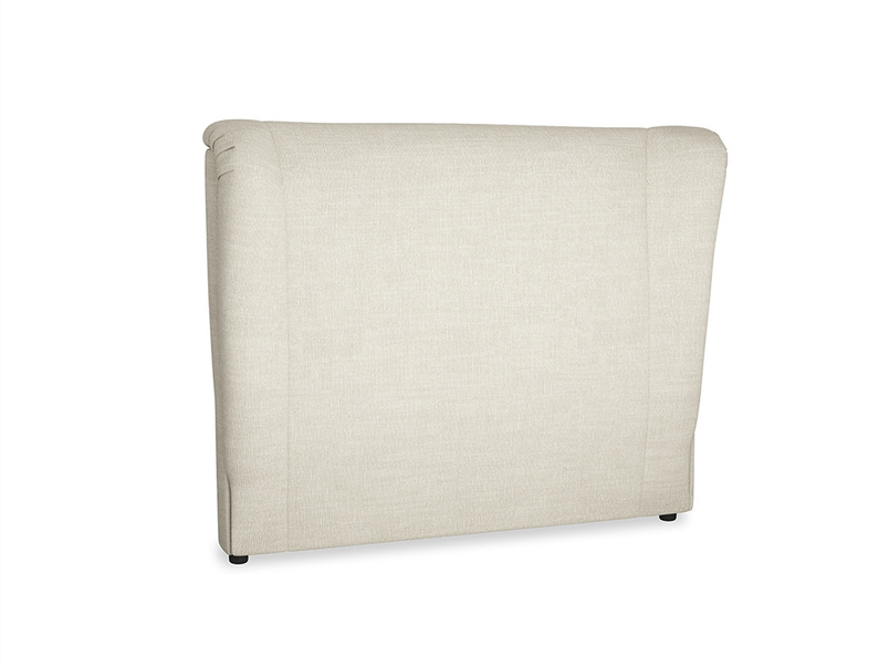Double Hugger Headboard in Shell Clever Laundered Linen