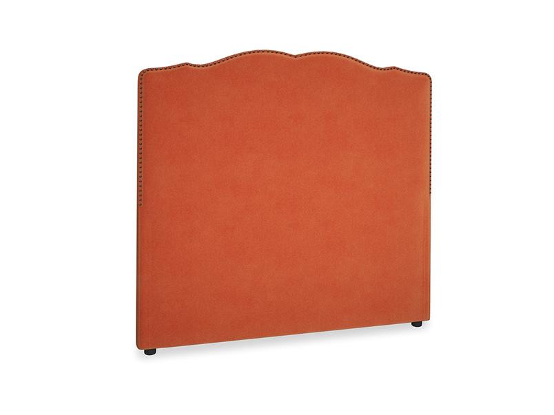 Double Marie Headboard in Old Orange Clever Deep Velvet