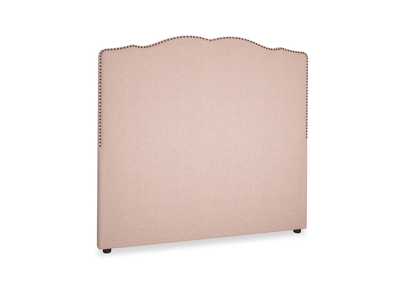Double Marie Headboard in Pale Pink Clever Woolly Fabric