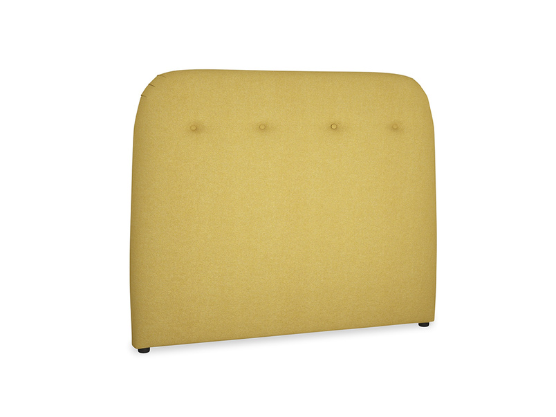 Double Napper Headboard in Easy Yellow Clever Woolly Fabric