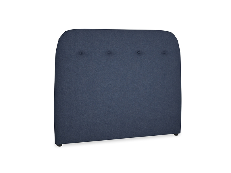 Double Napper Headboard in Night Owl Blue Clever Woolly Fabric