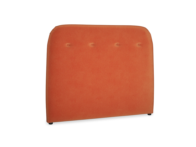Double Napper Headboard in Old Orange Clever Deep Velvet