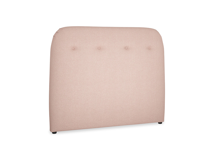 Double Napper Headboard in Pale Pink Clever Woolly Fabric