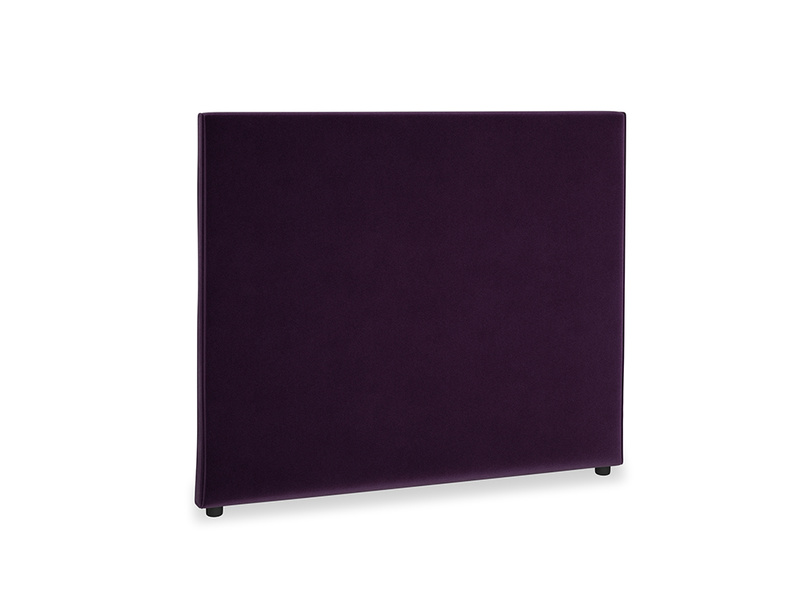 Double Piper Headboard in Deep Purple Clever Deep Velvet