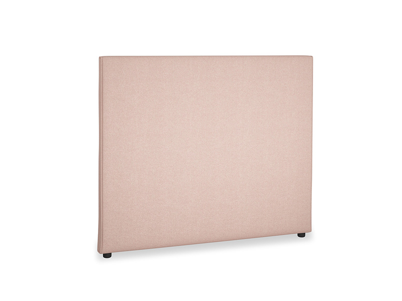 Double Piper Headboard in Pale Pink Clever Woolly Fabric