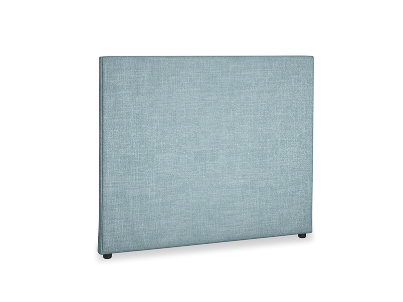 Double Piper Headboard in Soft Blue Clever Laundered Linen