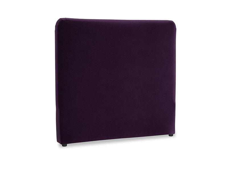 Double Ruffle Headboard in Deep Purple Clever Deep Velvet