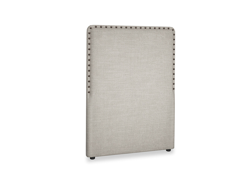 Single Smith Headboard in Grey Daybreak Clever Laundered Linen