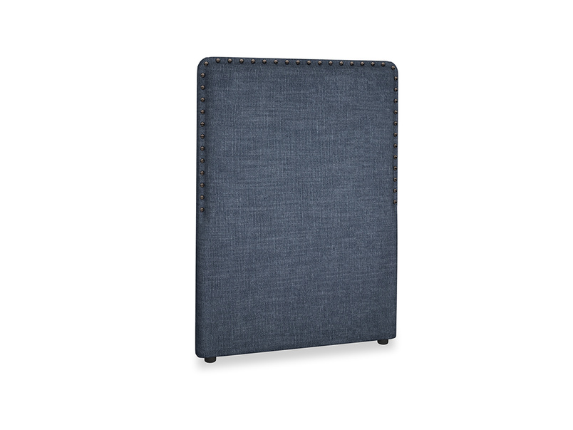 Single Smith Headboard in Selvedge Blue Clever Laundered Linen