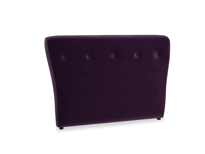 Double Smoke Headboard in Deep Purple Clever Deep Velvet