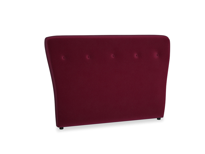 Double Smoke Headboard in Merlot Plush Velvet
