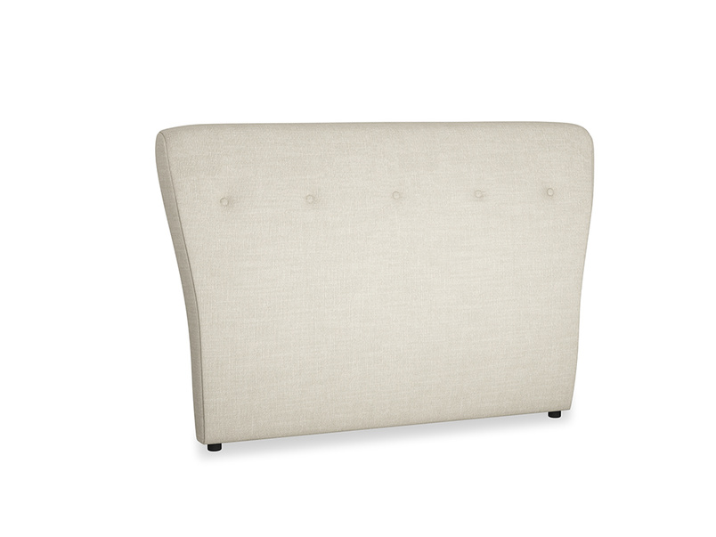 Double Smoke Headboard in Shell Laundered Linen