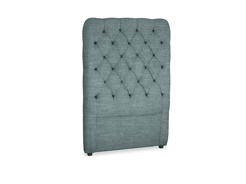 Single Tall Billow Headboard in Anchor Grey Clever Laundered Linen