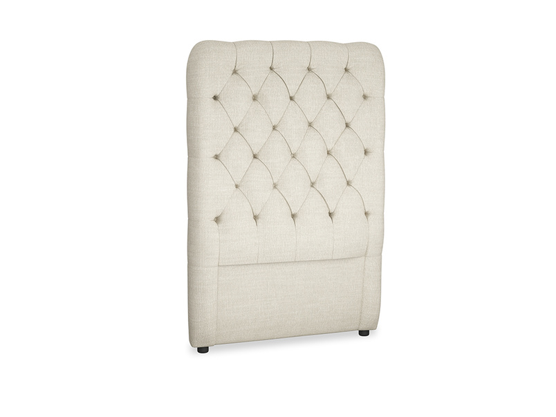 Single Tall Billow Headboard in Shell Clever Laundered Linen
