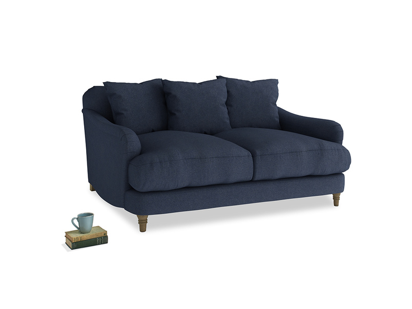 Small Achilles Sofa in Night Owl Blue Clever Woolly Fabric