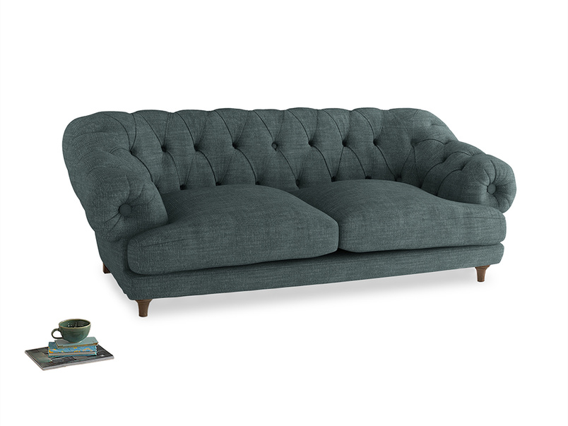 Large Bagsie Sofa in Anchor Grey Clever Laundered Linen