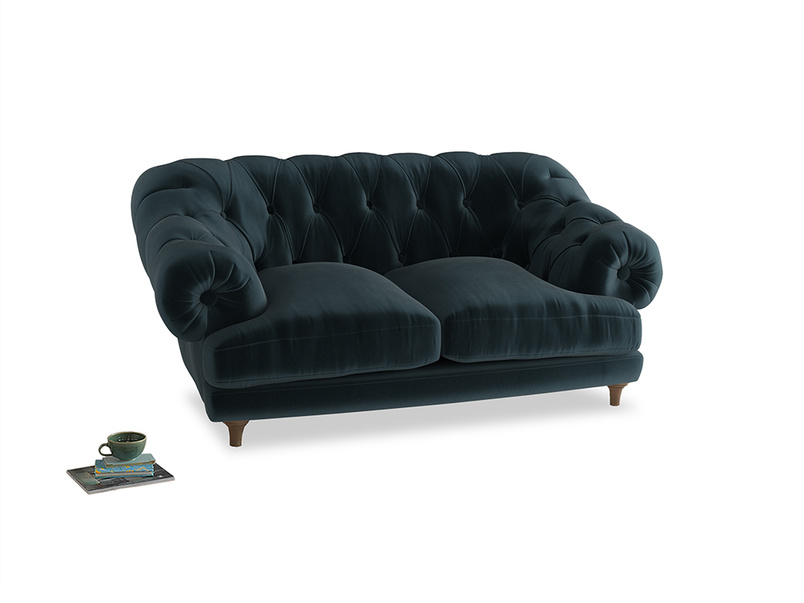 Small Bagsie Sofa in Bluey Grey Clever Deep Velvet