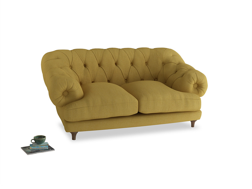 Small Bagsie Sofa in Easy Yellow Clever Woolly Fabric