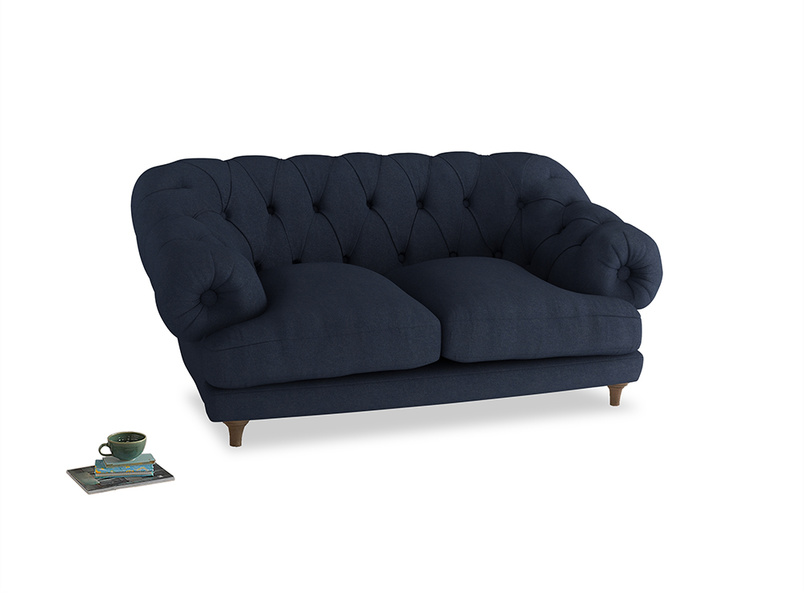 Small Bagsie Sofa in Night Owl Blue Clever Woolly Fabric