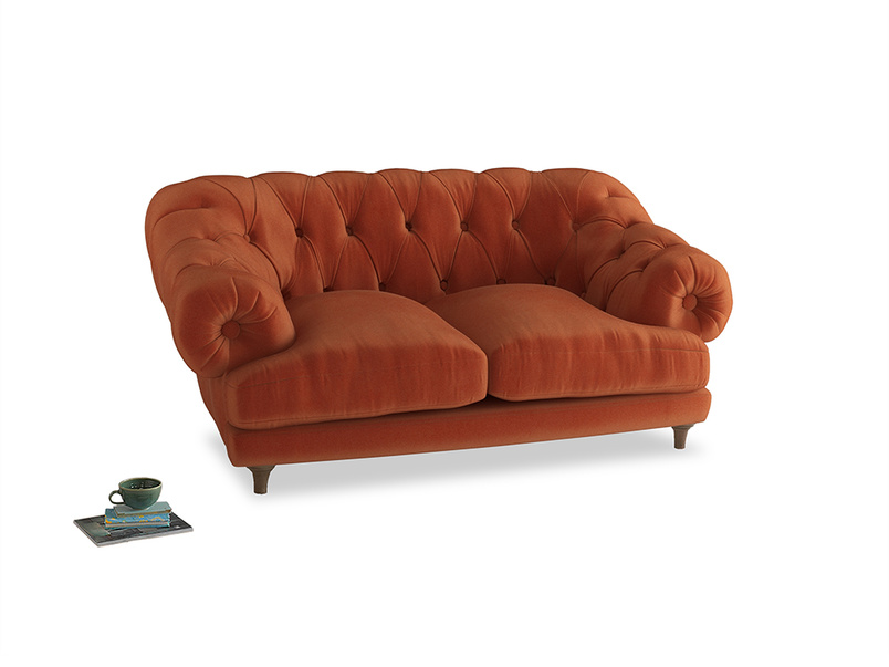 Small Bagsie Sofa in Old Orange Clever Deep Velvet