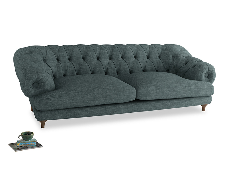 Extra large Bagsie Sofa in Anchor Grey Clever Laundered Linen