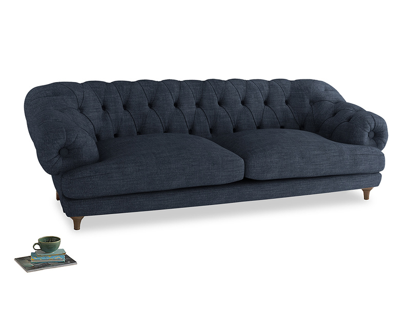 Extra large Bagsie Sofa in Selvedge Blue Clever Laundered Linen
